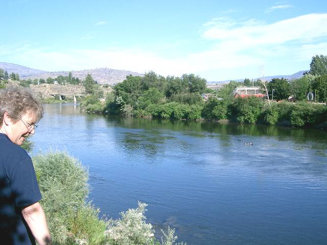 Mary Koch and Okanogan River